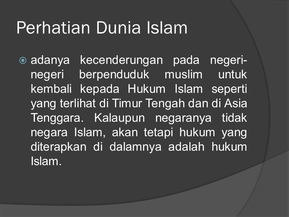 Perhatian Dunia Islam