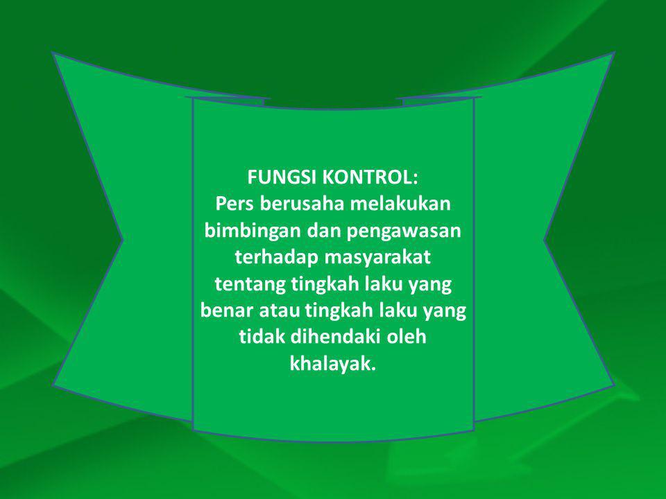 FUNGSI KONTROL:
