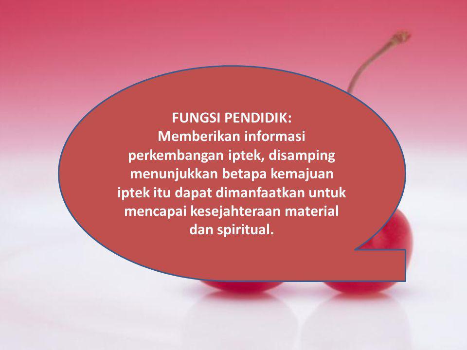 FUNGSI PENDIDIK: