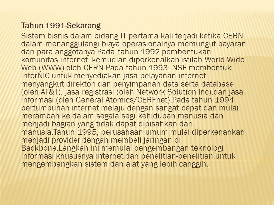 Tahun 1991-Sekarang