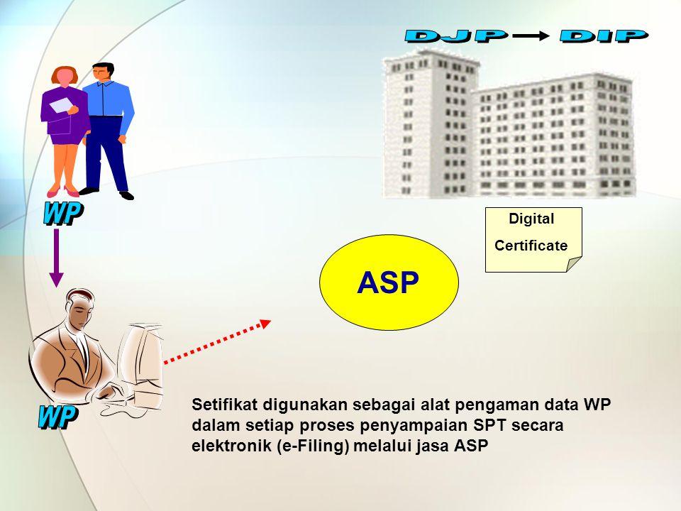 DJP DIP WP. Digital. Certificate. ASP.