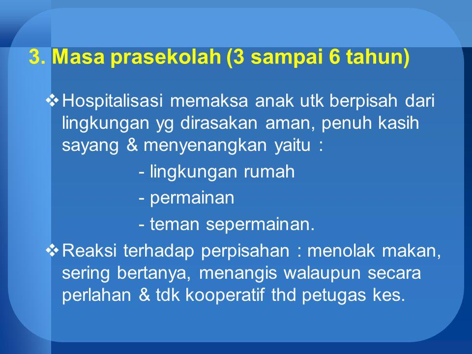 3. Masa prasekolah (3 sampai 6 tahun)