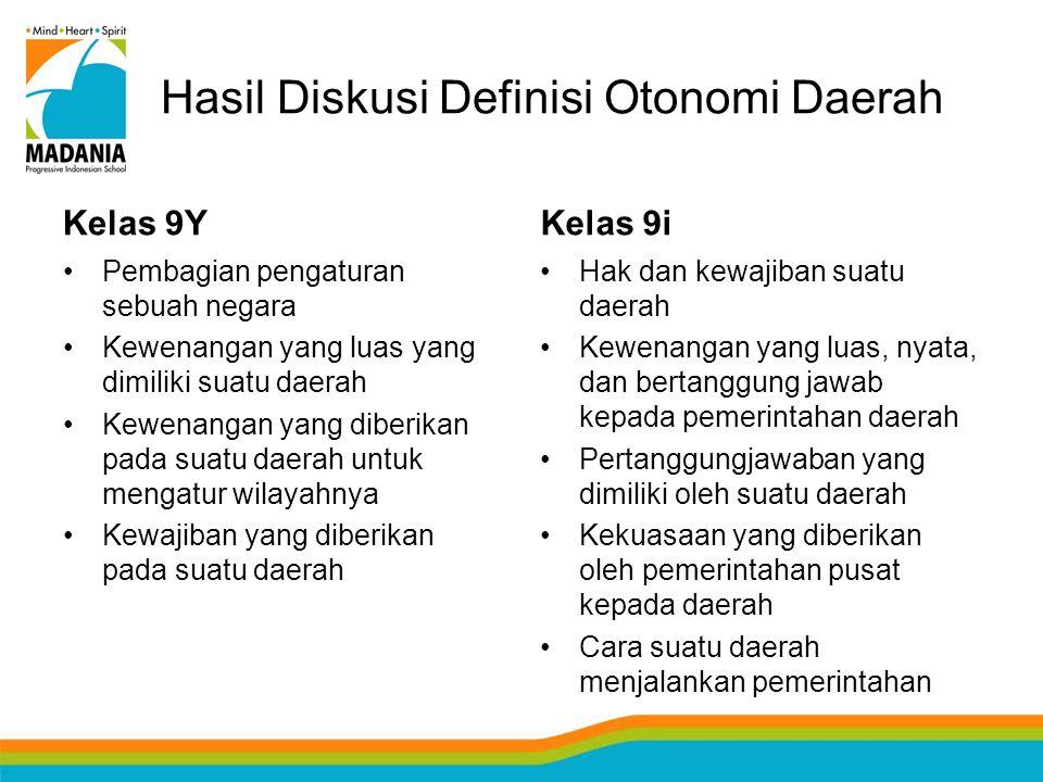 Hasil Diskusi Definisi Otonomi Daerah