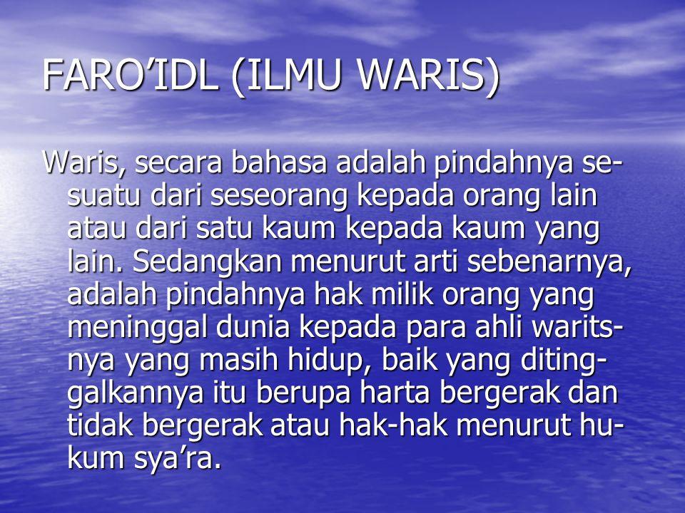 FARO'IDL (ILMU WARIS)
