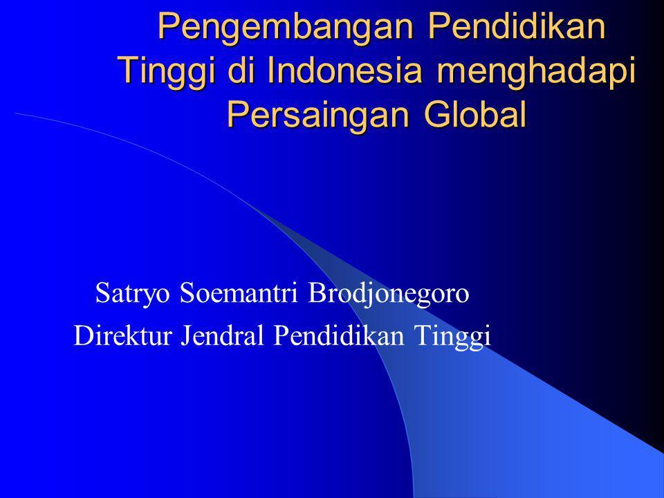 Satryo Soemantri Brodjonegoro Direktur Jendral Pendidikan Tinggi