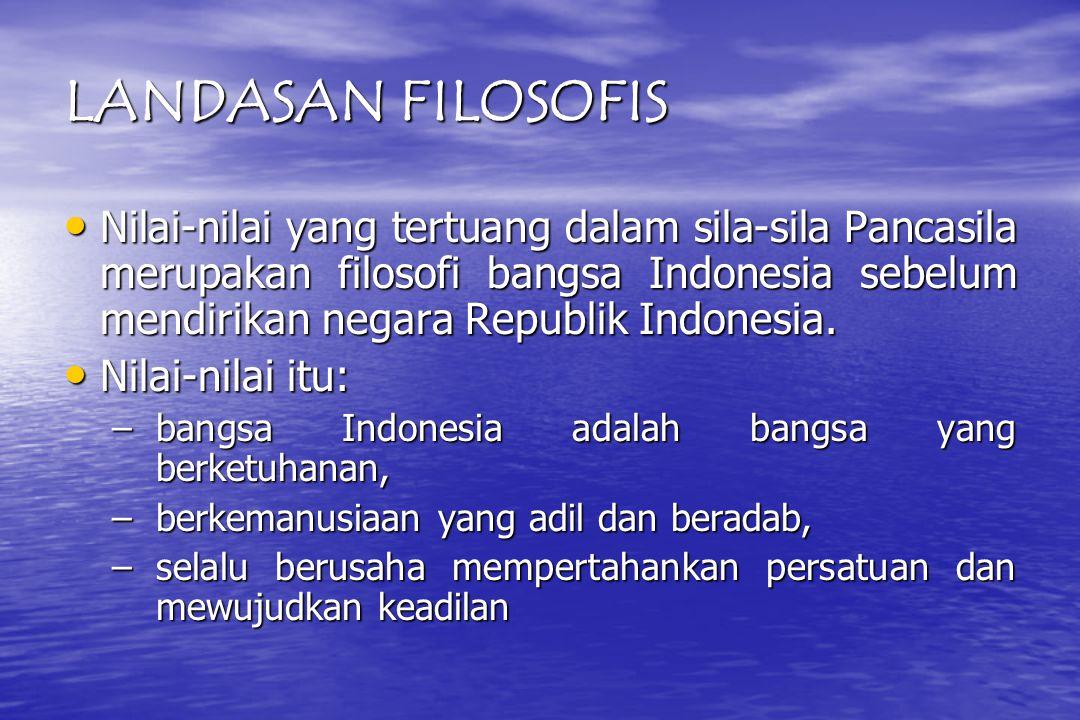 LANDASAN FILOSOFIS