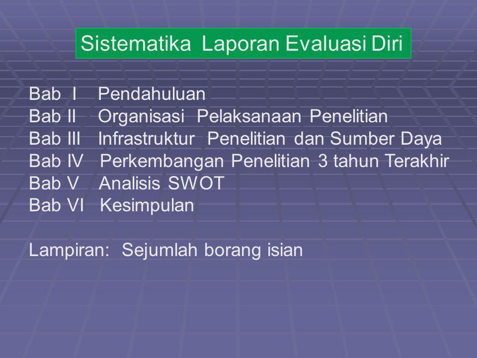 Sistematika Laporan Evaluasi Diri