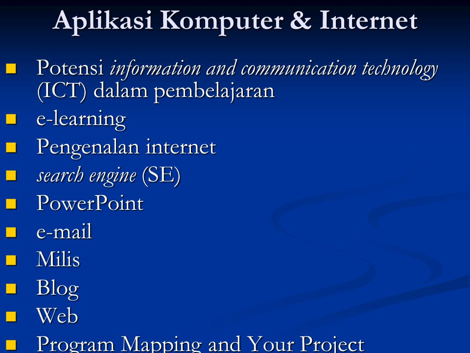 Aplikasi Komputer & Internet