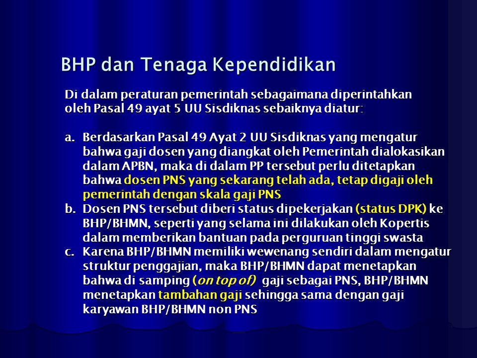 BHP dan Tenaga Kependidikan