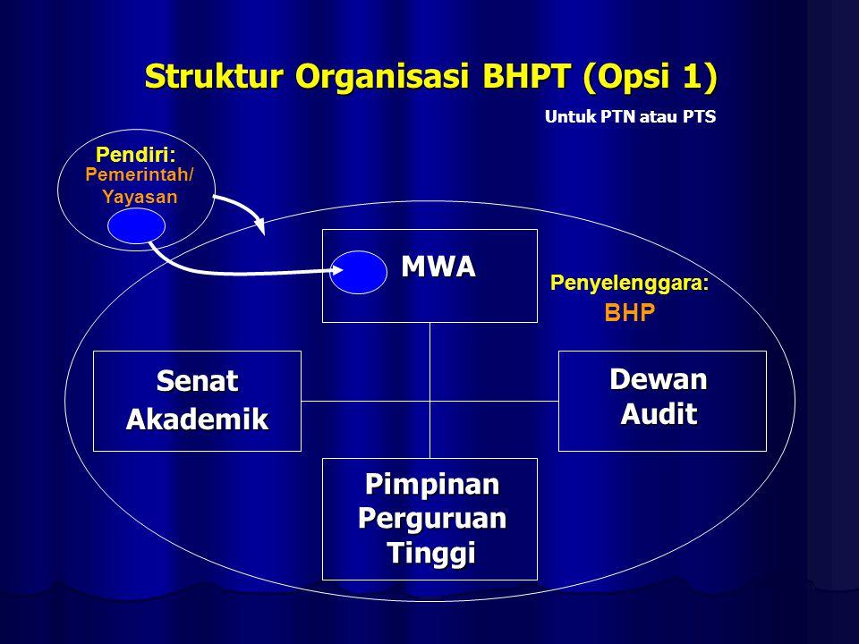 Struktur Organisasi BHPT (Opsi 1)