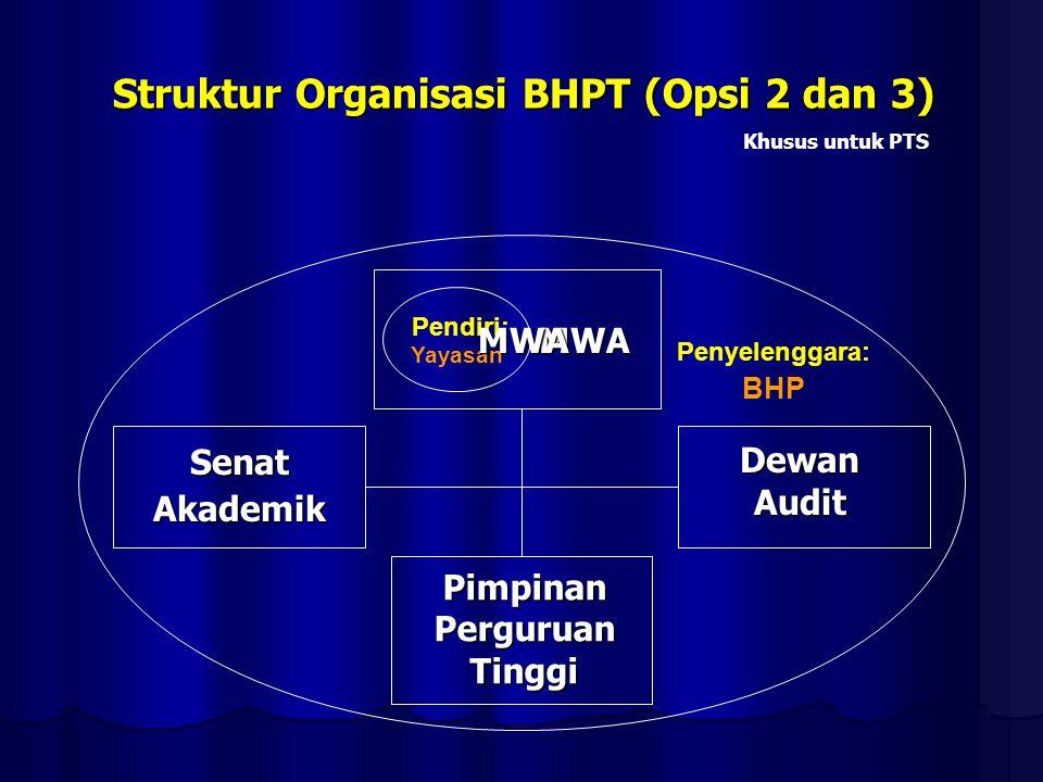 Struktur Organisasi BHPT (Opsi 2 dan 3)