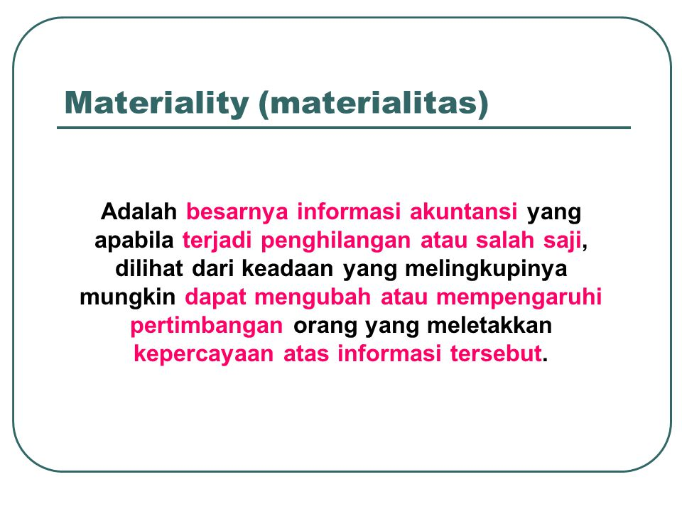 Materiality (materialitas)