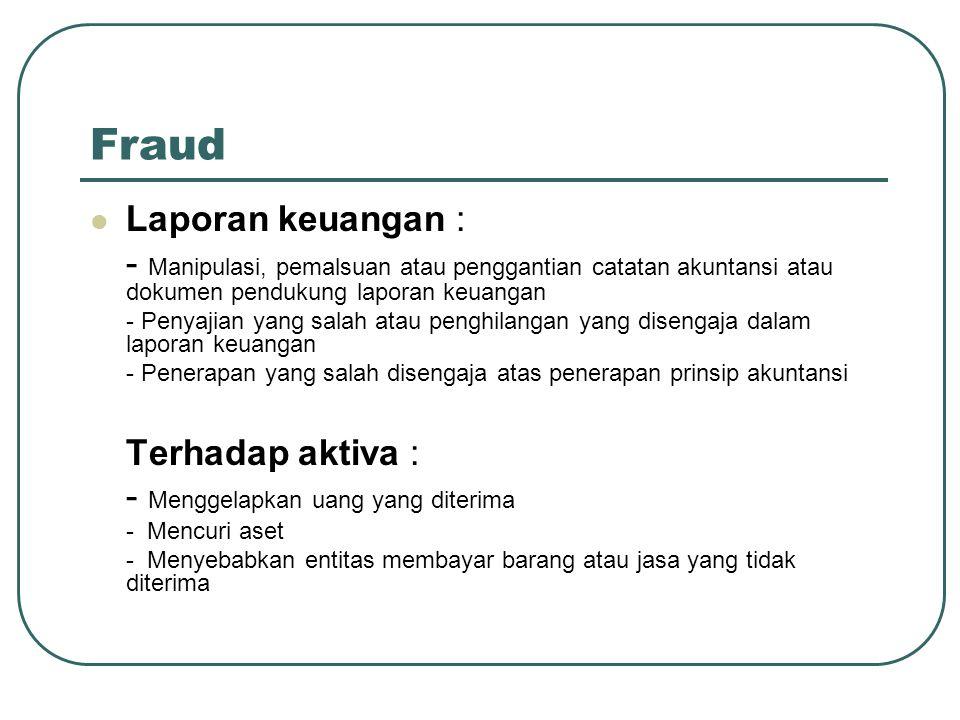 Fraud Laporan keuangan :