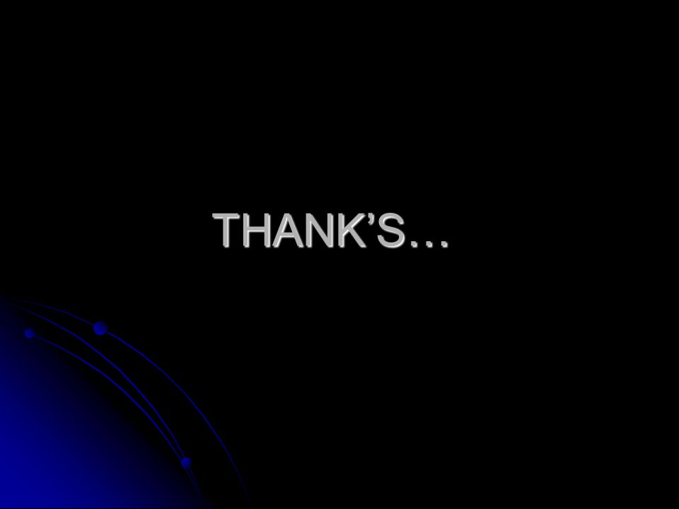 THANK'S…