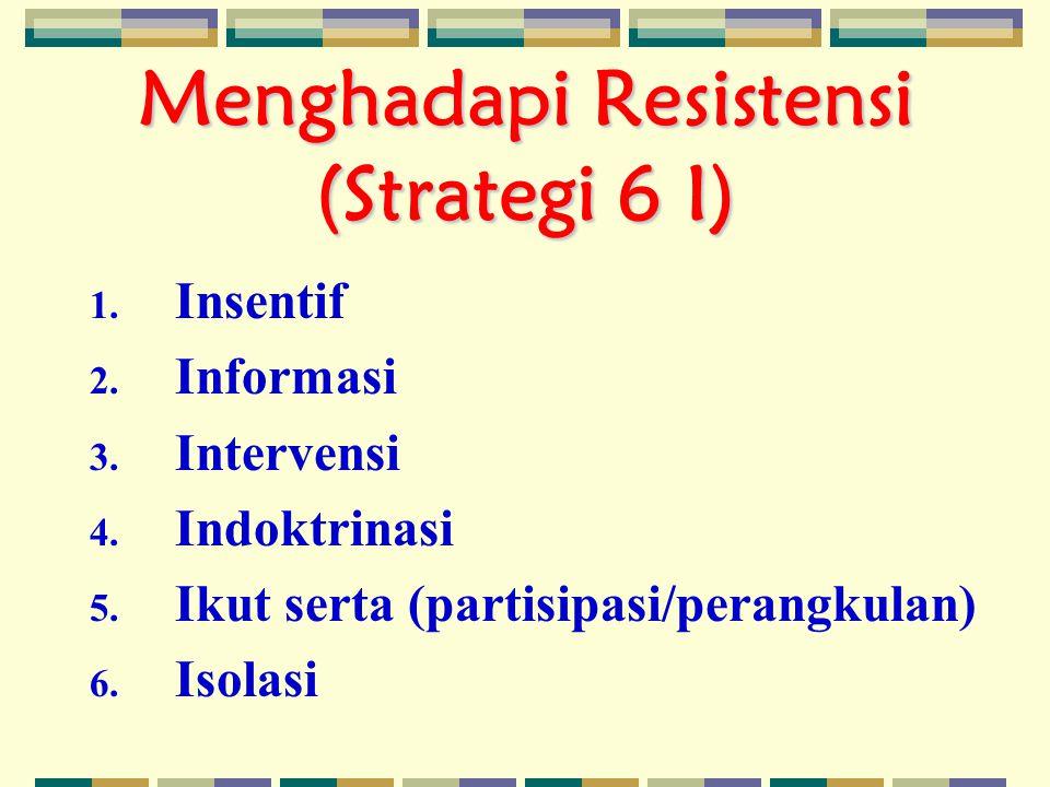 Menghadapi Resistensi (Strategi 6 I)