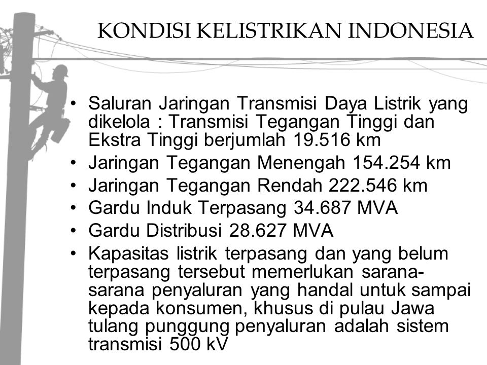 KONDISI KELISTRIKAN INDONESIA