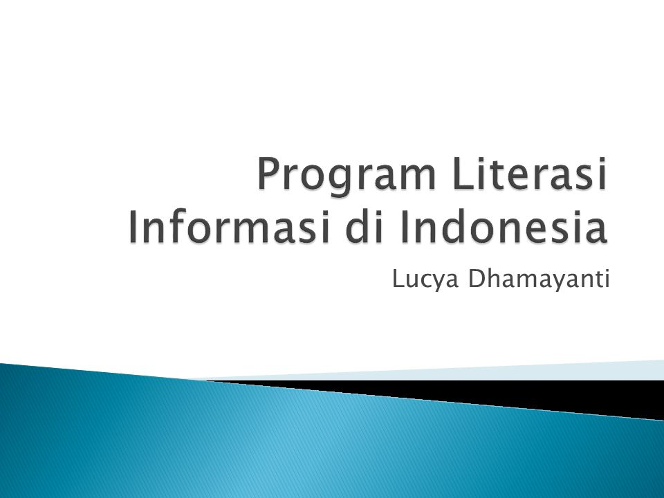 Program Literasi Informasi di Indonesia