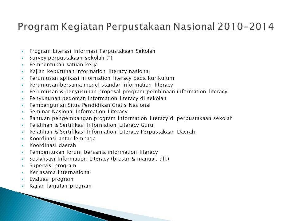 Program Kegiatan Perpustakaan Nasional 2010-2014