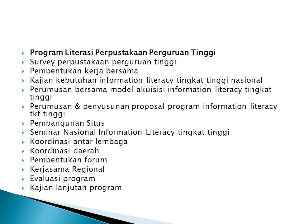 Program Literasi Perpustakaan Perguruan Tinggi