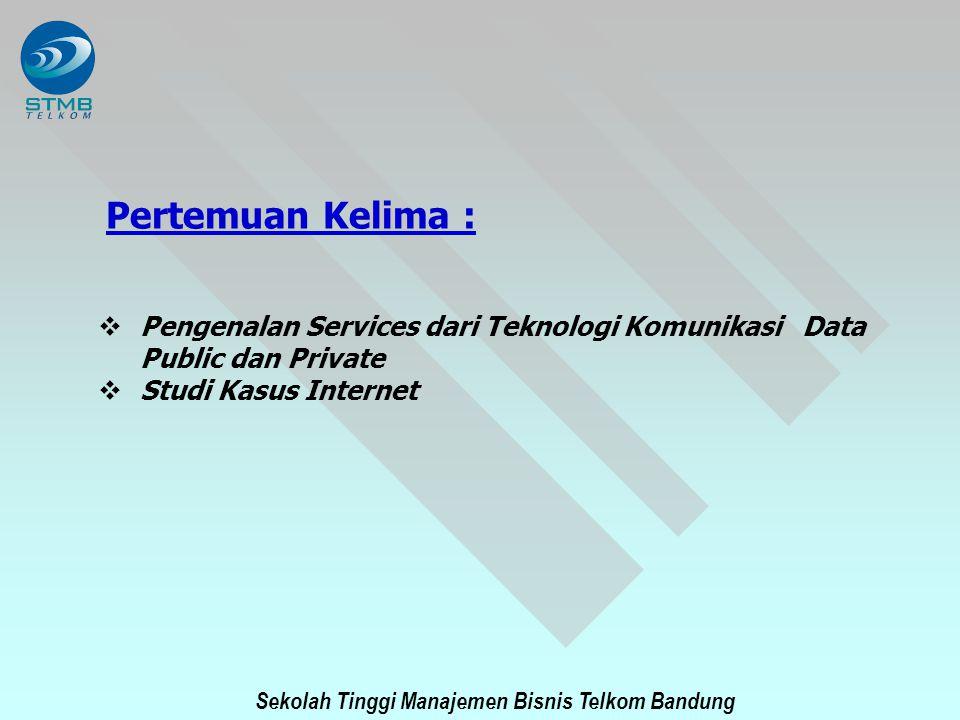 Pertemuan Kelima : Pengenalan Services dari Teknologi Komunikasi Data Public dan Private.