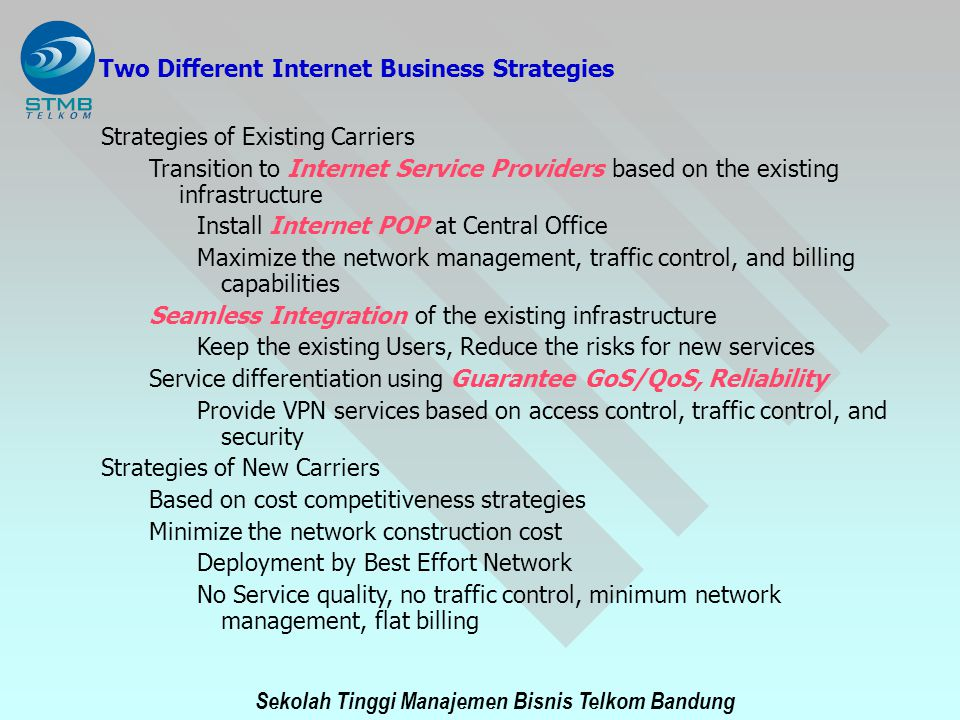 Two Different Internet Business Strategies