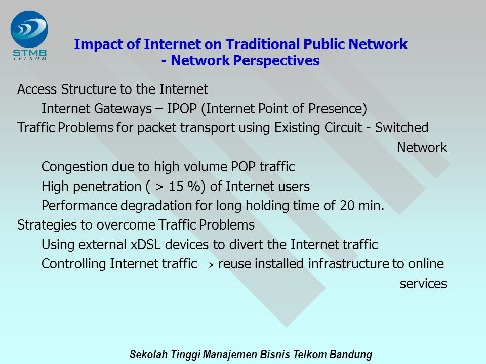 Impact of Internet on Traditional Public Network - Network Perspectives