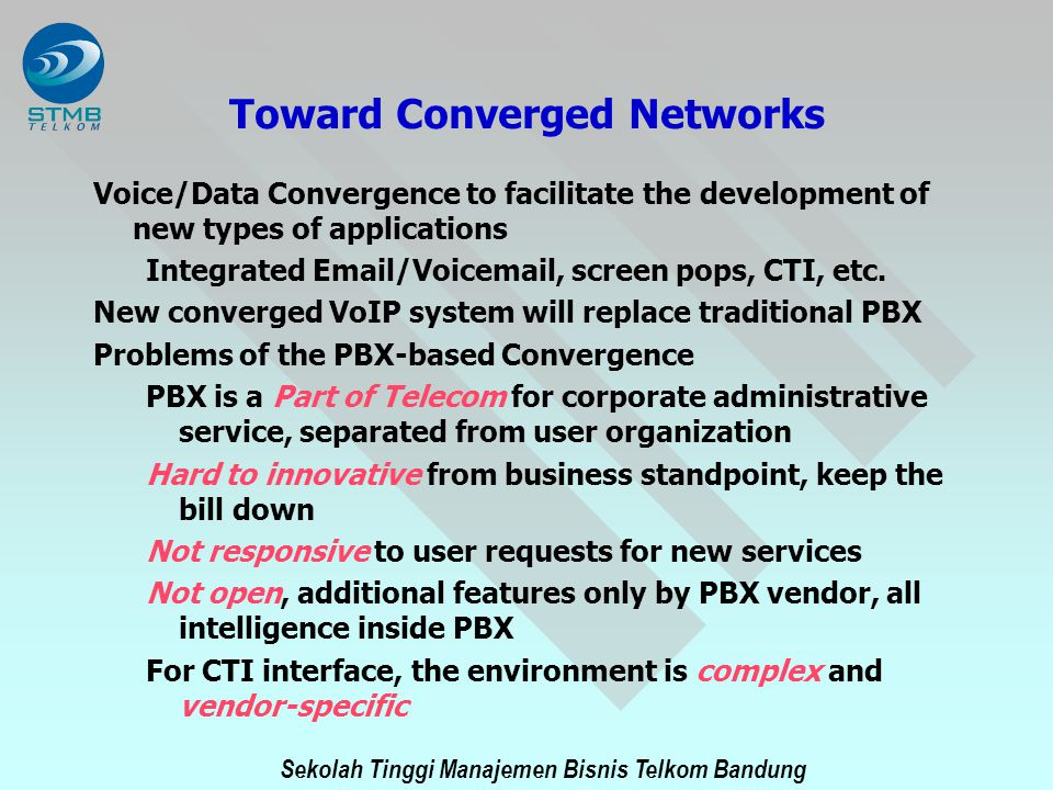 Toward Converged Networks