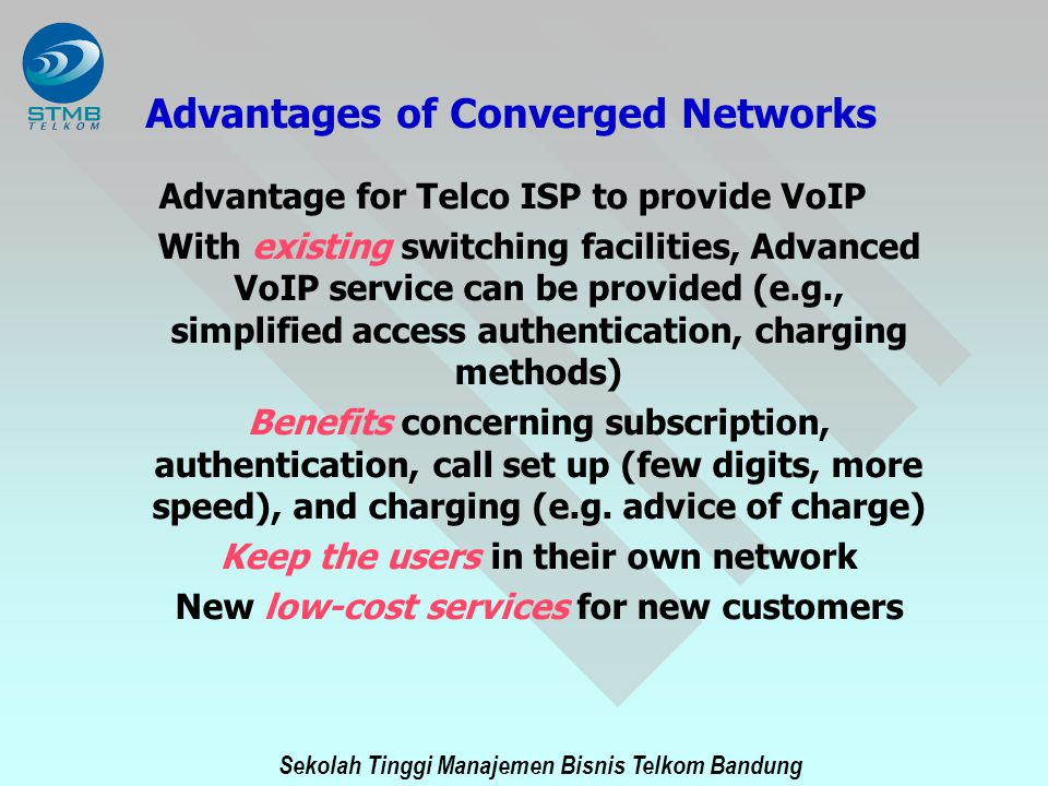 Advantages of Converged Networks