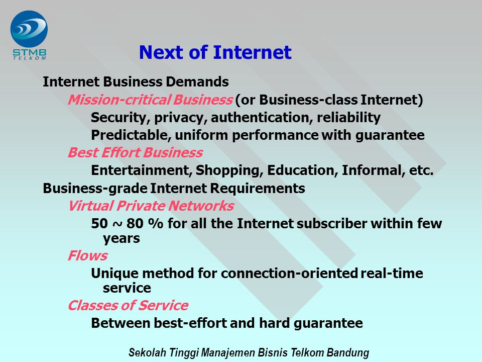 Next of Internet Internet Business Demands