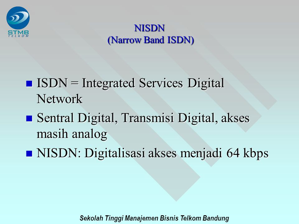 NISDN (Narrow Band ISDN)