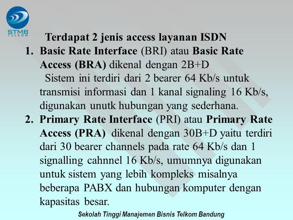 Terdapat 2 jenis access layanan ISDN