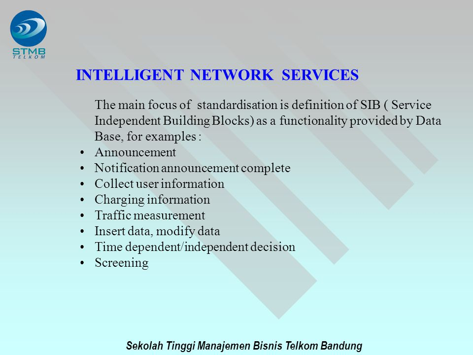 INTELLIGENT NETWORK SERVICES