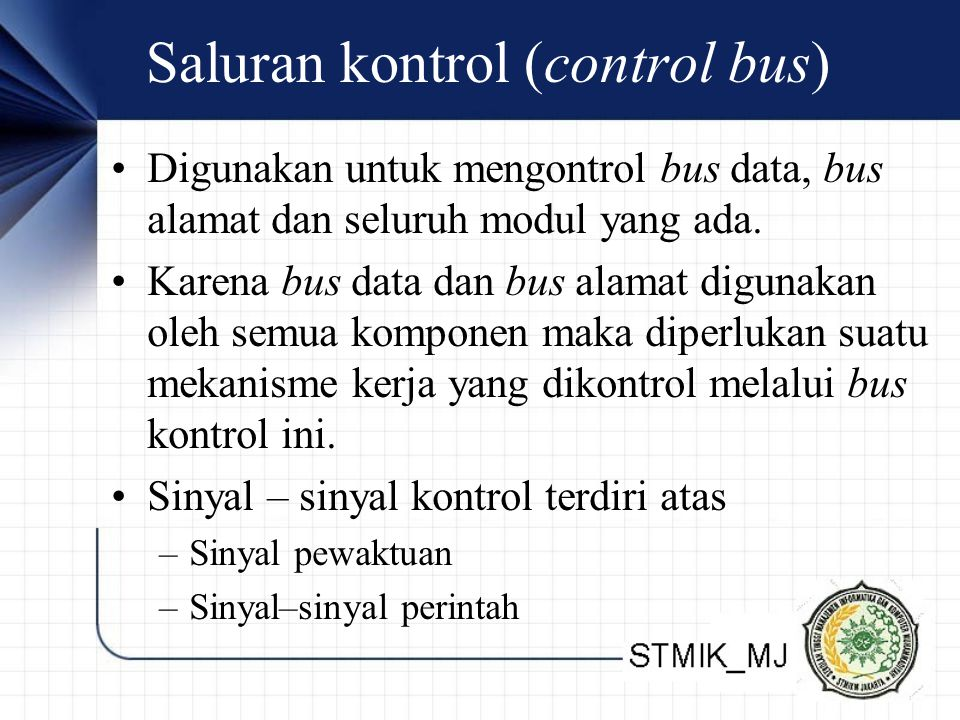 Saluran kontrol (control bus)