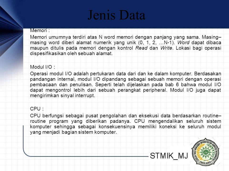 Jenis Data Memori :