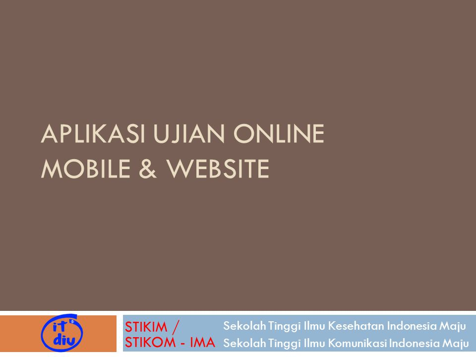 Aplikasi Ujian online Mobile & website