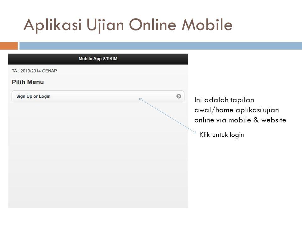 Aplikasi Ujian Online Mobile