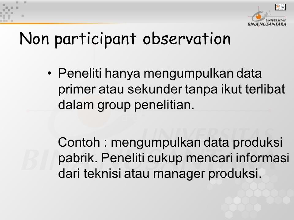 Non participant observation