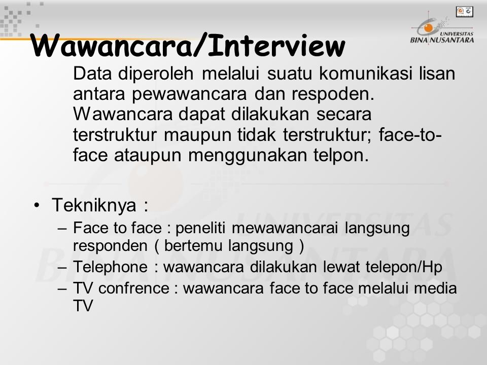 Wawancara/Interview