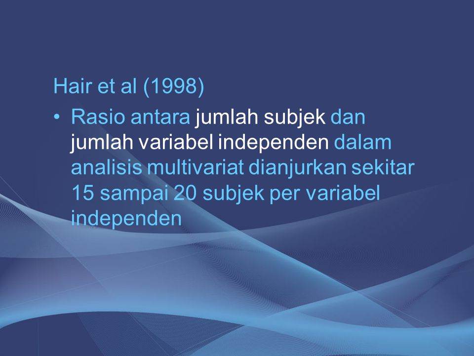 Hair et al (1998)