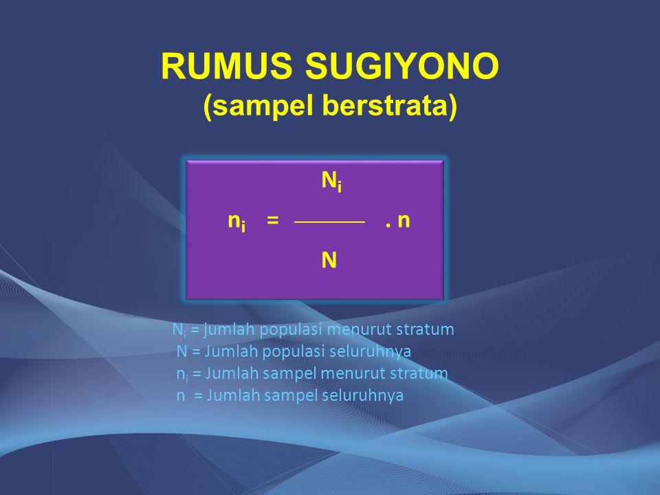 RUMUS SUGIYONO (sampel berstrata)