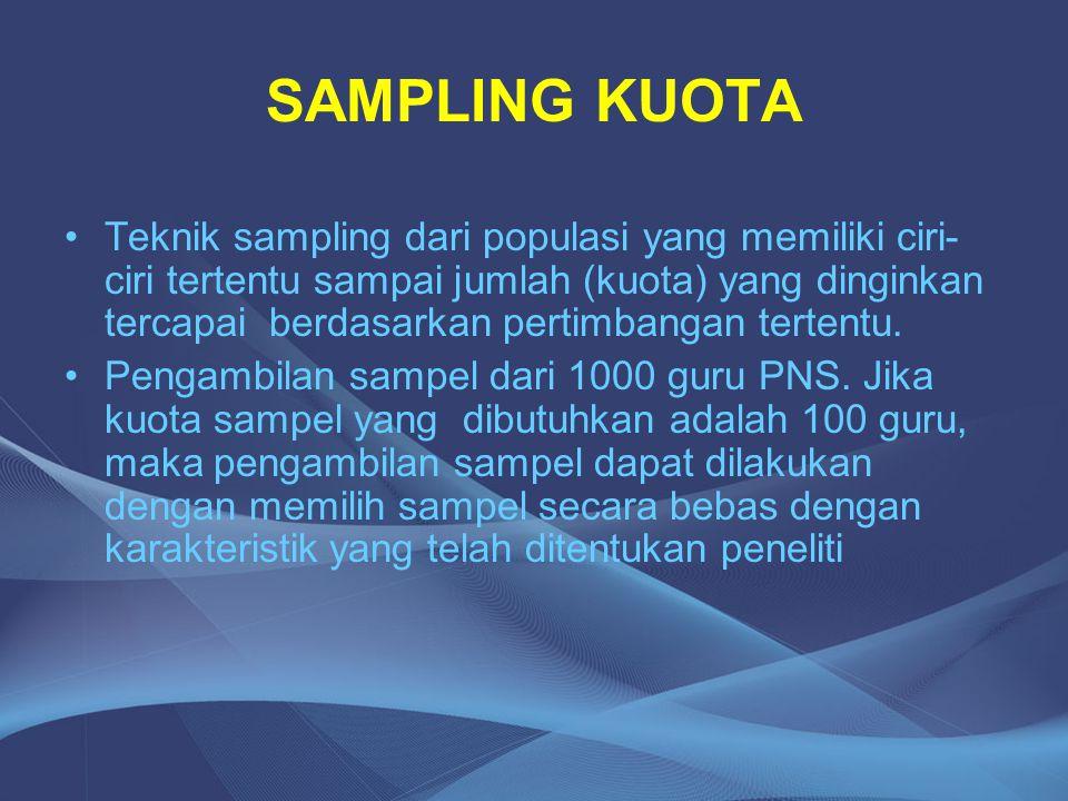 SAMPLING KUOTA
