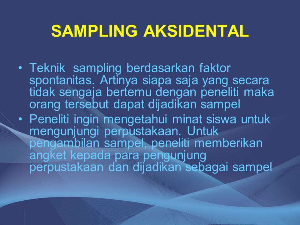 SAMPLING AKSIDENTAL