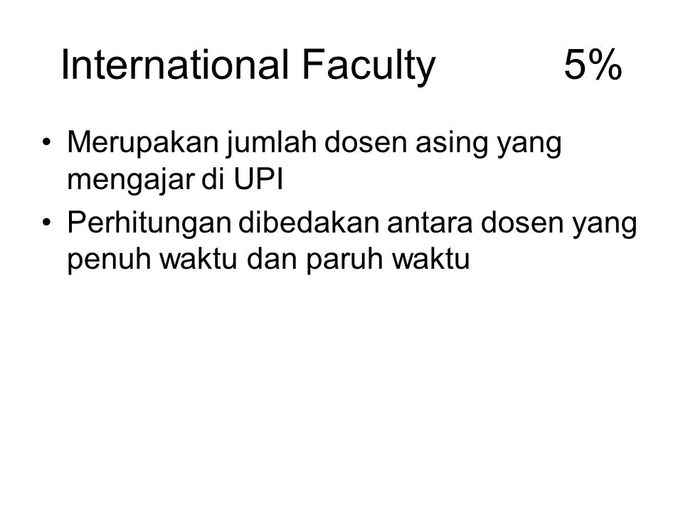 International Faculty 5%