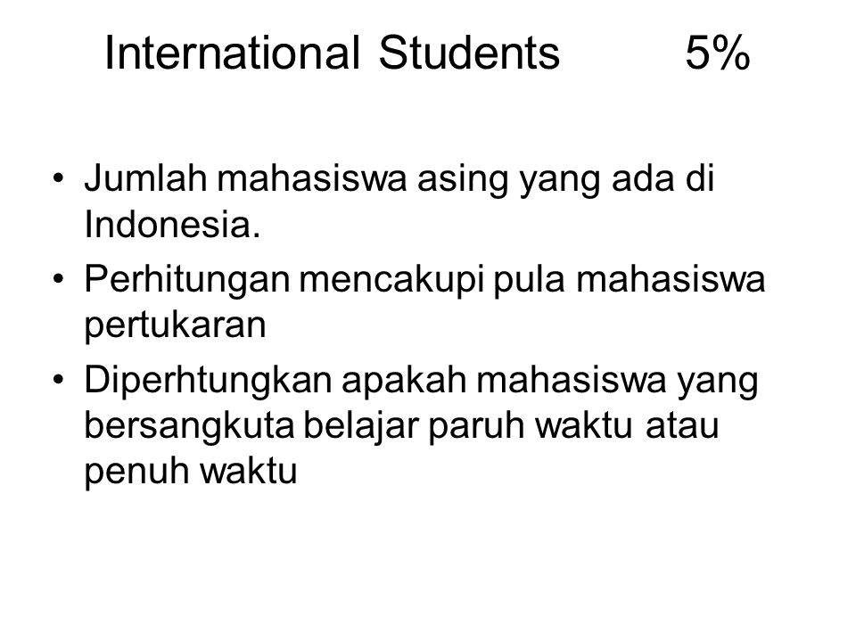 International Students 5%