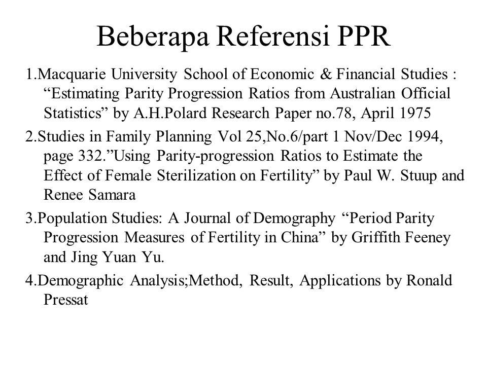 Beberapa Referensi PPR