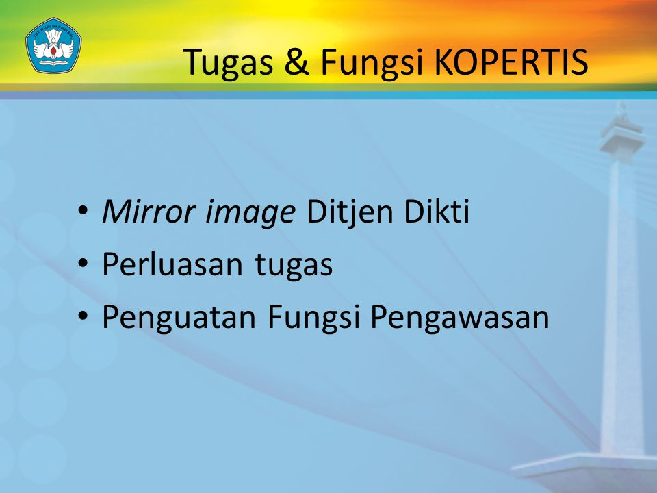 Tugas & Fungsi KOPERTIS