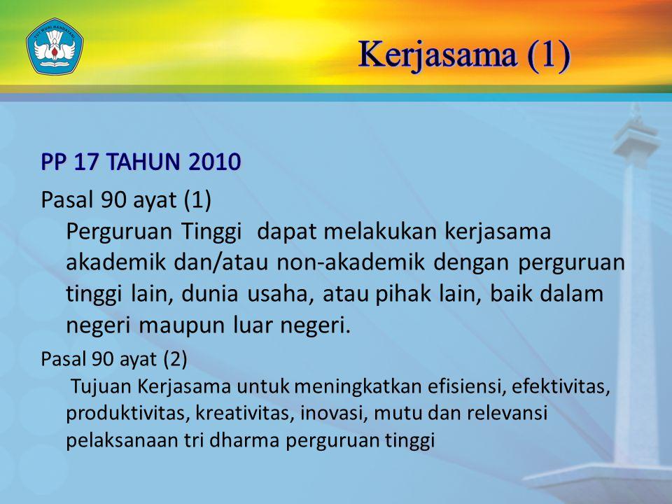 Kerjasama (1) PP 17 TAHUN 2010.
