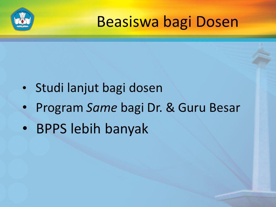 Beasiswa bagi Dosen BPPS lebih banyak