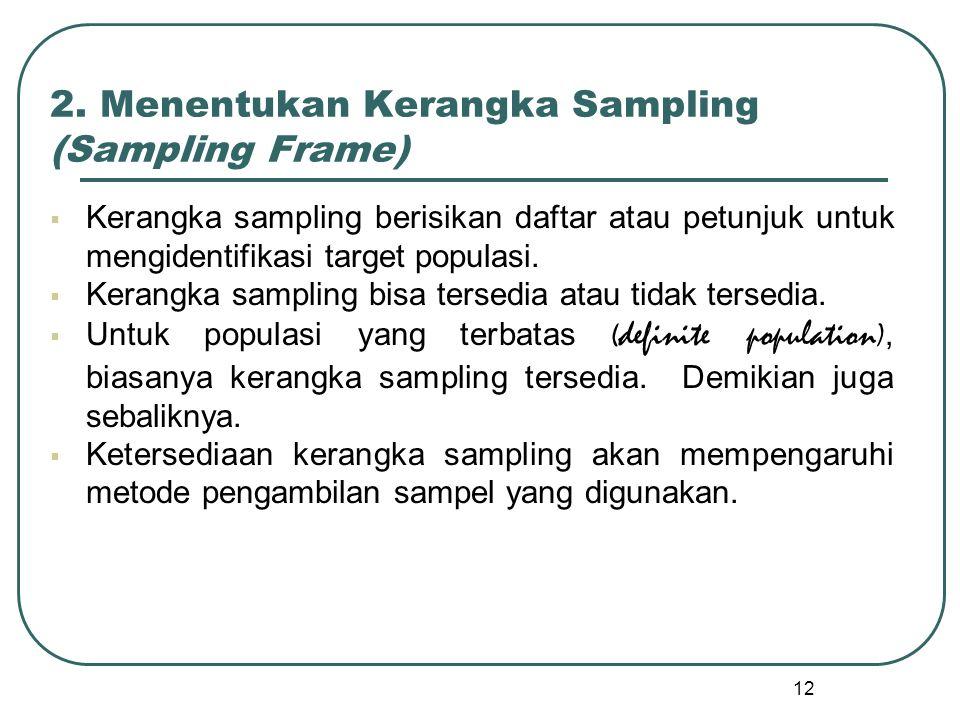 2. Menentukan Kerangka Sampling (Sampling Frame)