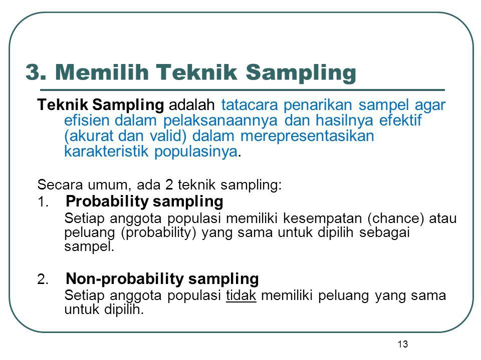 3. Memilih Teknik Sampling